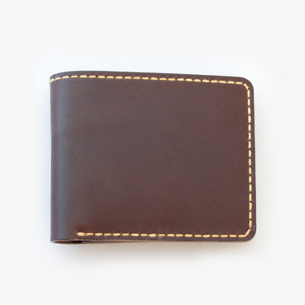 Leather Bi-fold Wallet - Dark Brown