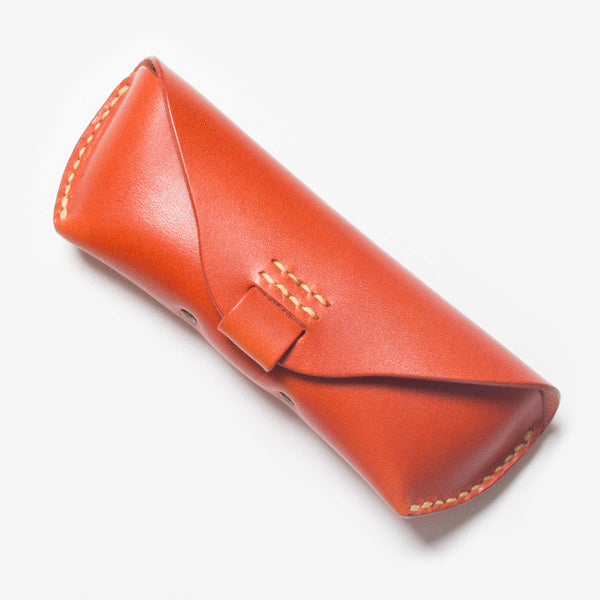 Leather Glasses Case - Red Tea
