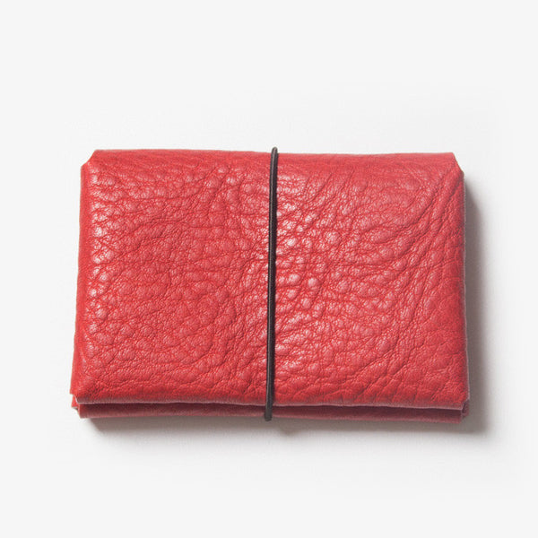 Leather Card Case - Red