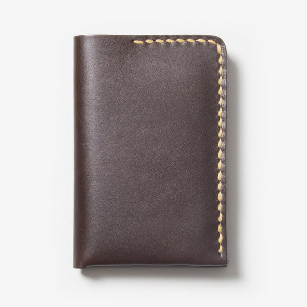 Leather Card Case - Dark Brown
