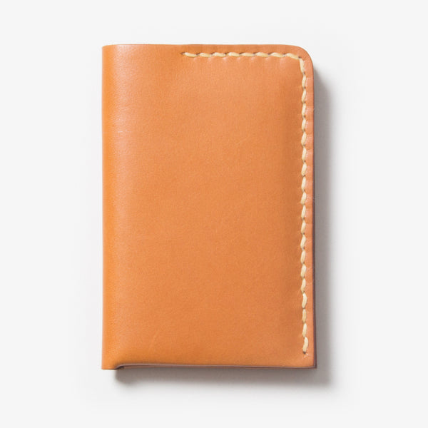 Leather Card Case - Light Brown