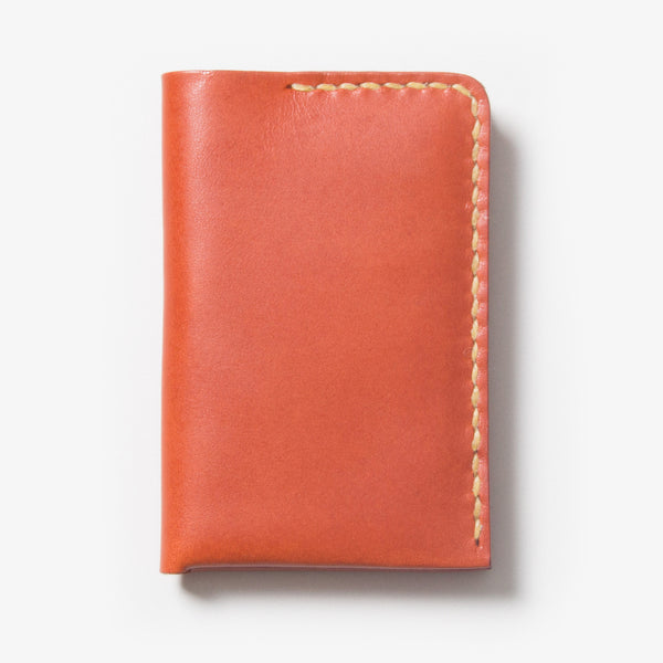 Leather Card Case - Red Tea