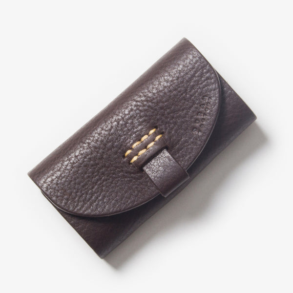 Leather Key Case - Dark Brown