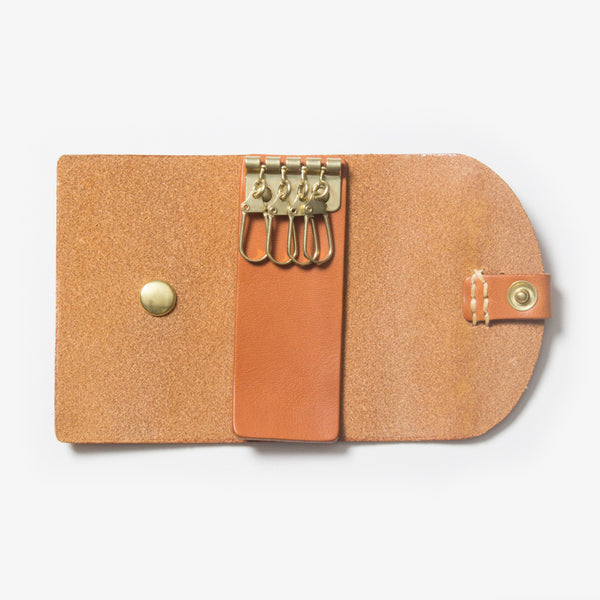 Leather Key Case - Open