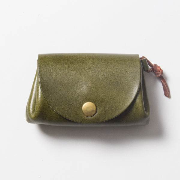 Small Leather Wallet - Green
