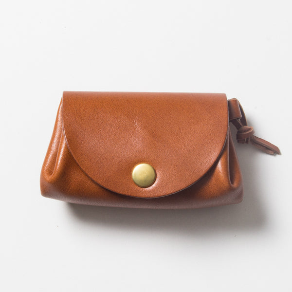 Small Leather Wallet - Brown