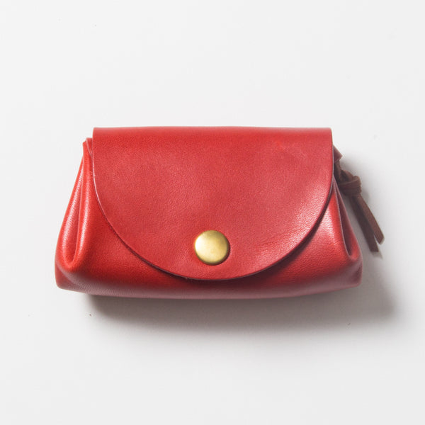 Small Leather Wallet - Red