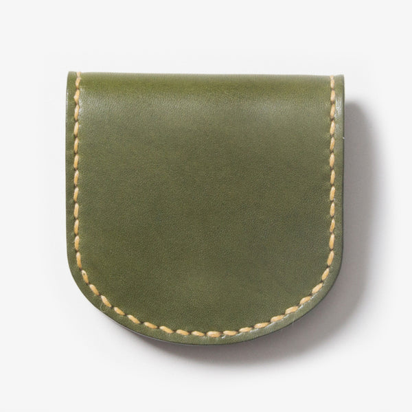 Leather Coin Case - Green
