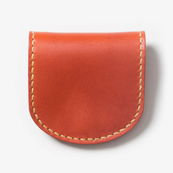 Leather Coin Case - Red Tea