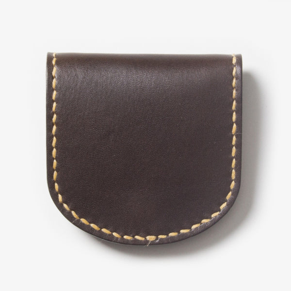 Leather Coin Case - Dark Brown
