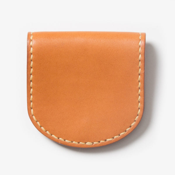 Leather Coin Case - Light Brown