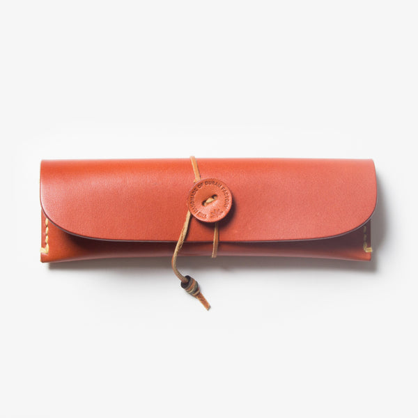 Leather Pen Case - Red Tea