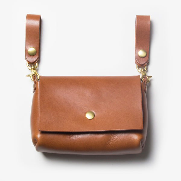 Leather Belt Pouch - Brown