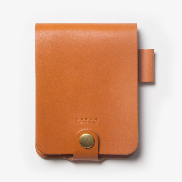 Leather Notepad Holder - Light Brown