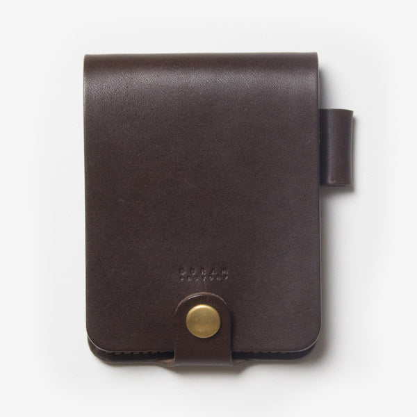 Leather Notepad Holder - Dark Brown