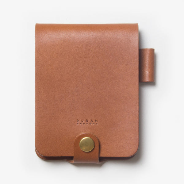 Leather Notepad Holder - Brown