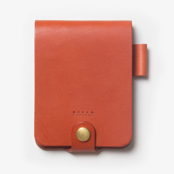 Leather Notepad Holder - Red Tea