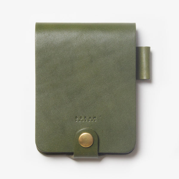 Leather Notepad Holder - Green