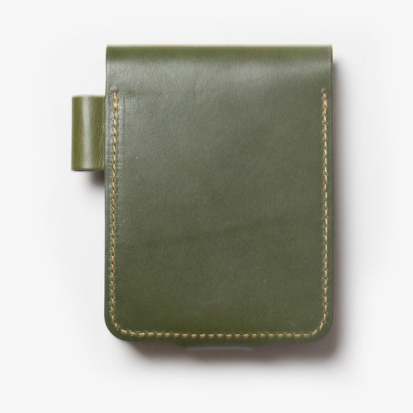Leather Notepad Holder - Back