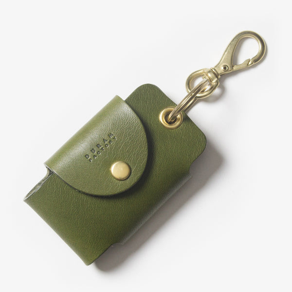 Leather Smart Key Case - Green