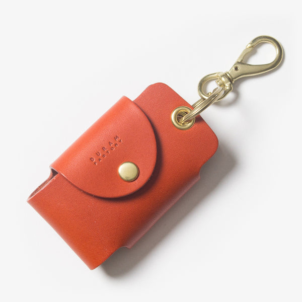 Leather Smart Key Case - Red Tea