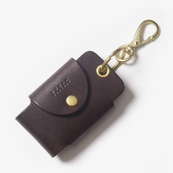 Leather Smart Key Case - Dark Brown