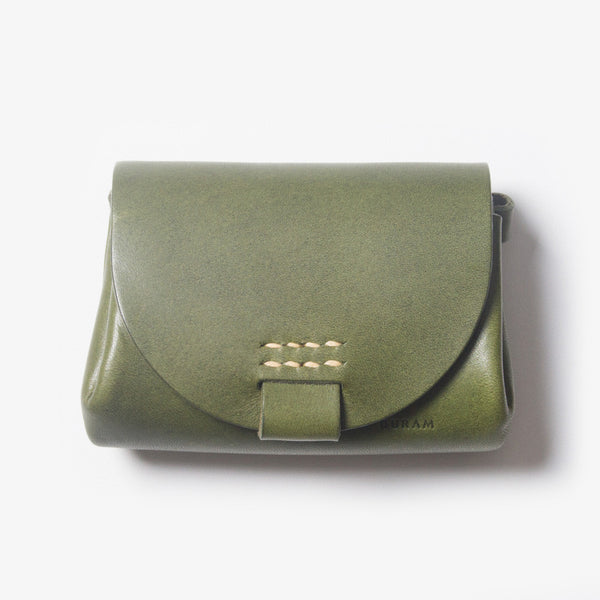 Small Leather Purse - Green
