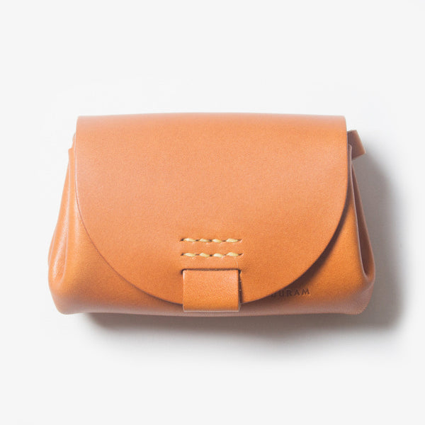 Small Leather Purse - Light Brown