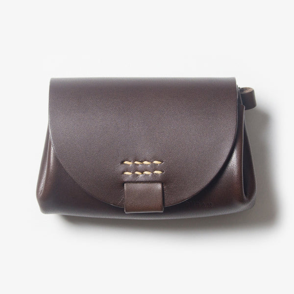 Small Leather Purse - Dark Brown