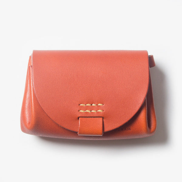 Small Leather Purse - Red Tea