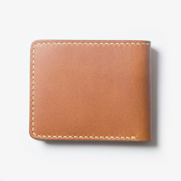 Leather Bi-fold Wallet - Brown