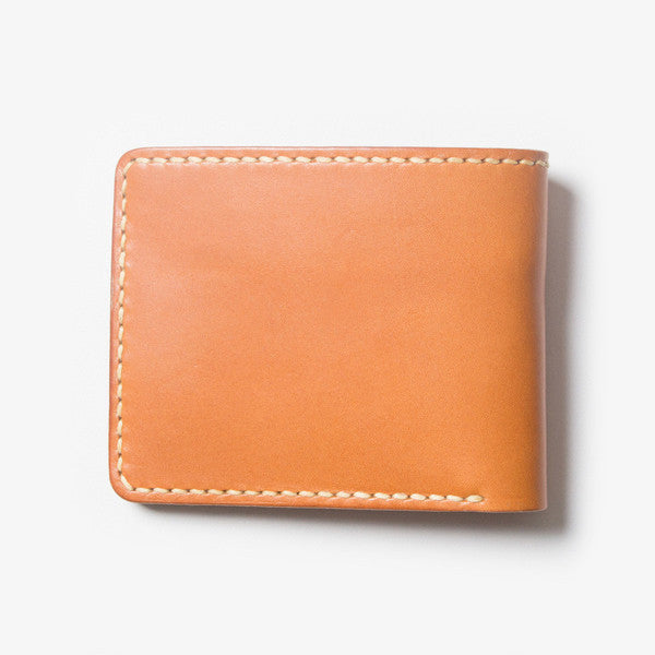 Leather Bi-fold Wallet - Light Brown