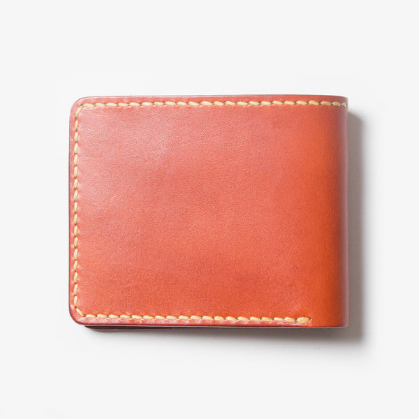 Leather Bi-fold Wallet - Red Tea