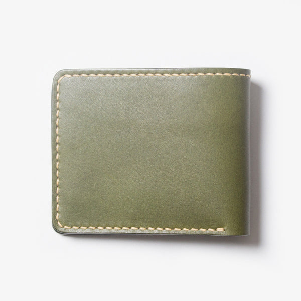 Leather Bi-fold Wallet - Green