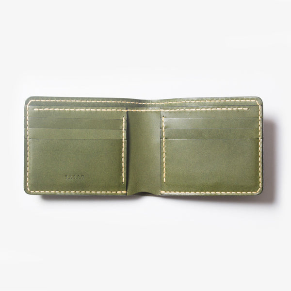 Leather Bi-fold Wallet - Open