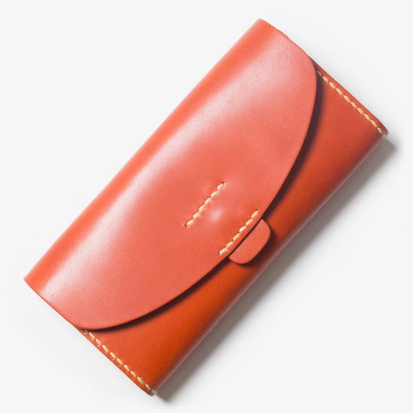 Leather Wallet - Red Tea