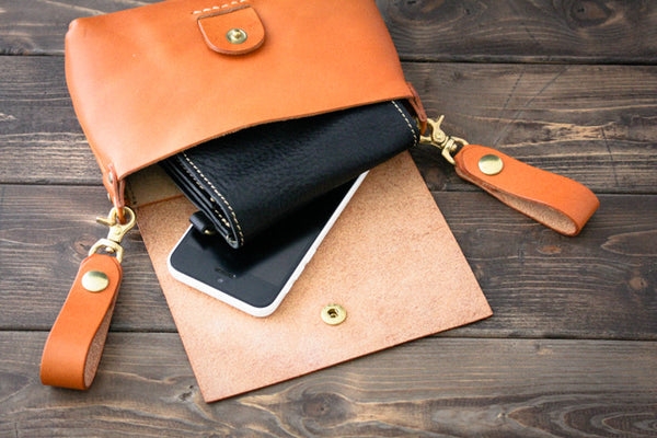 Leather Belt Pouch - Smart Phone and Wallet