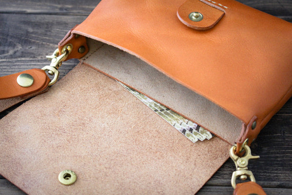 Leather Belt Pouch - Card Pocket