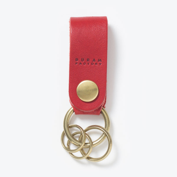 Leather Key Chain Red