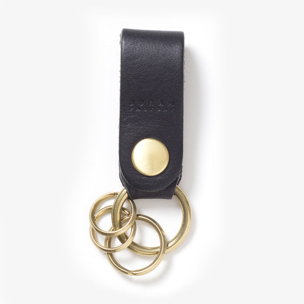 Leather Key Chain Black