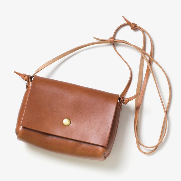 Leather Shoulder Pouch Brown