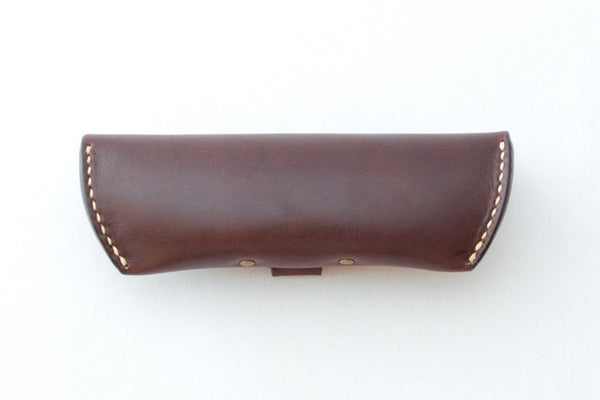 Leather Glasses Case - Back