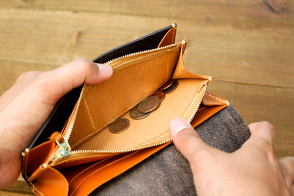 Leather Wallet - Coin Pocket
