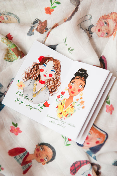 Iconic Women Swaddle Blanket + Book