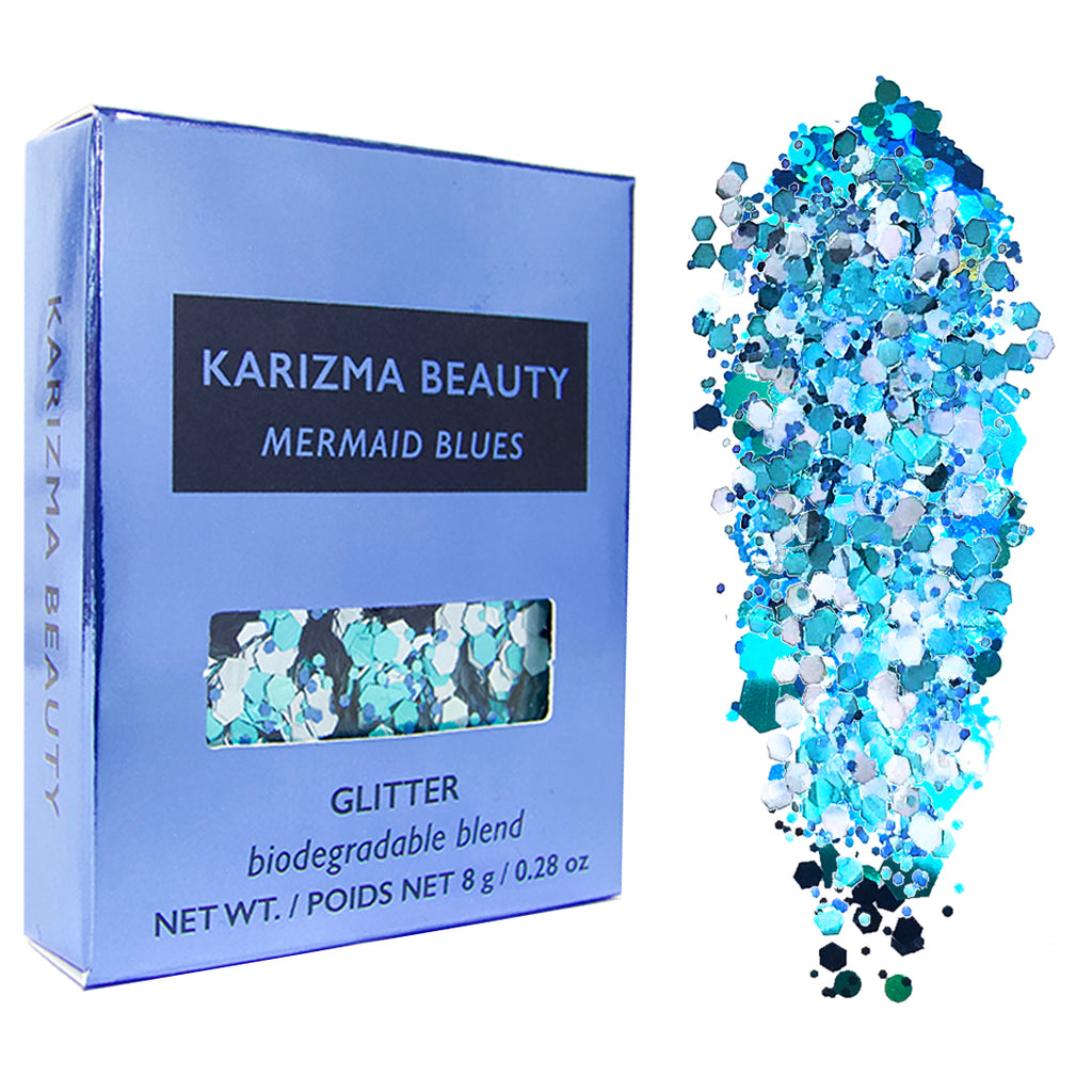 Mermaid Blues Biodegradable Chunky Glitter