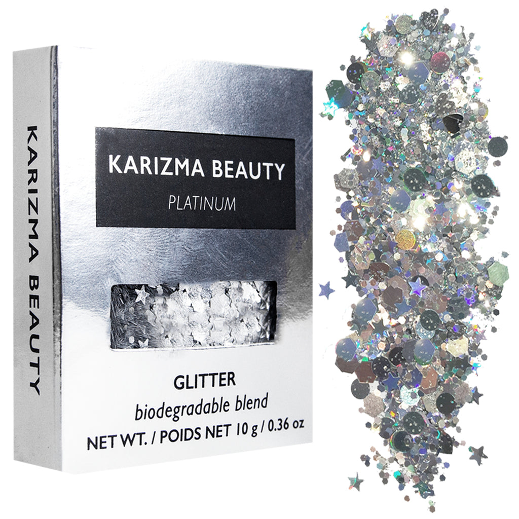 Platinum Biodegradable Chunky Glitter