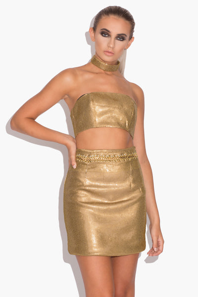 Charlotte Gold Three Piece