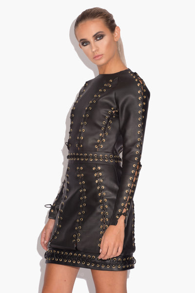 Tia Vegan Lace Up Dress