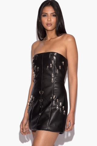 Pre Order: Alison Black Zip Dress