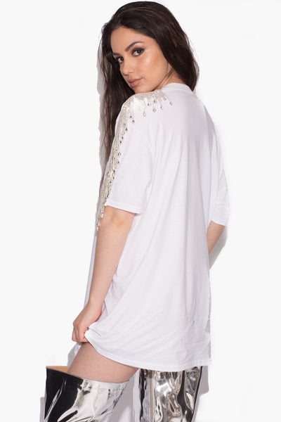 Gaby Crystal T-Shirt White